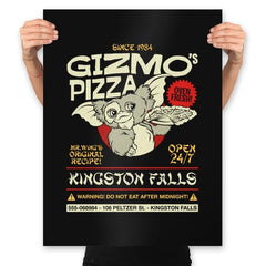 Gizmo's Pizza - Prints - Posters - RIPT Apparel