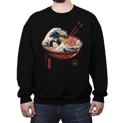 Great Ramen Wave - Crew Neck Sweatshirt - Crew Neck Sweatshirt - RIPT Apparel