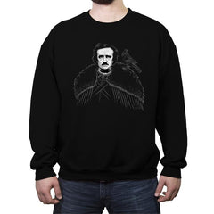 Edgar Allen Crow - Crew Neck Sweatshirt - Crew Neck Sweatshirt - RIPT Apparel