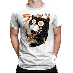 Cat Love Ramen - Mens Premium - T-Shirts - RIPT Apparel