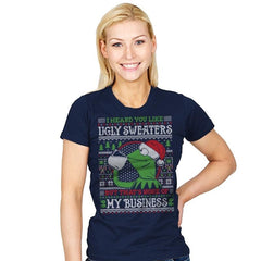 None of My Business - Ugly Holiday - Womens - T-Shirts - RIPT Apparel