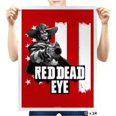 Red Dead Eye - Prints - Posters - RIPT Apparel
