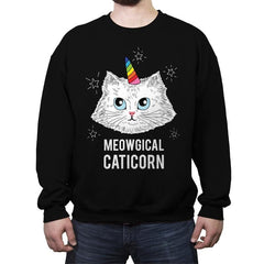 Meowgical Caticorn - Crew Neck Sweatshirt - Crew Neck Sweatshirt - RIPT Apparel