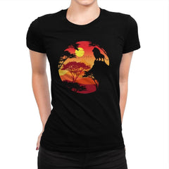 King Lion - Womens Premium - T-Shirts - RIPT Apparel