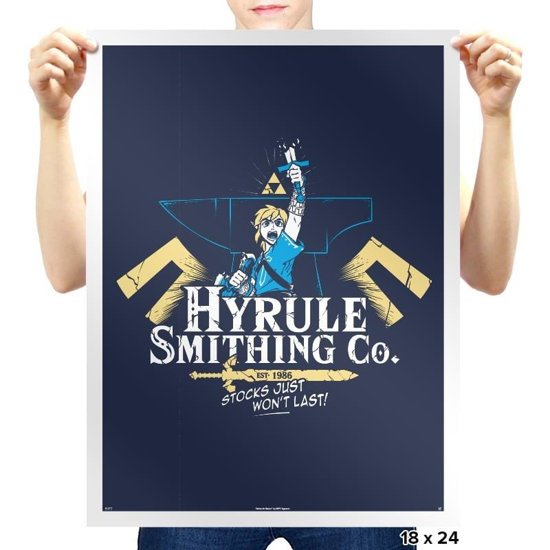 Hyrule Smithing Co. - Prints - Posters - RIPT Apparel