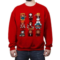 Horror Dolls - Crew Neck Sweatshirt - Crew Neck Sweatshirt - RIPT Apparel