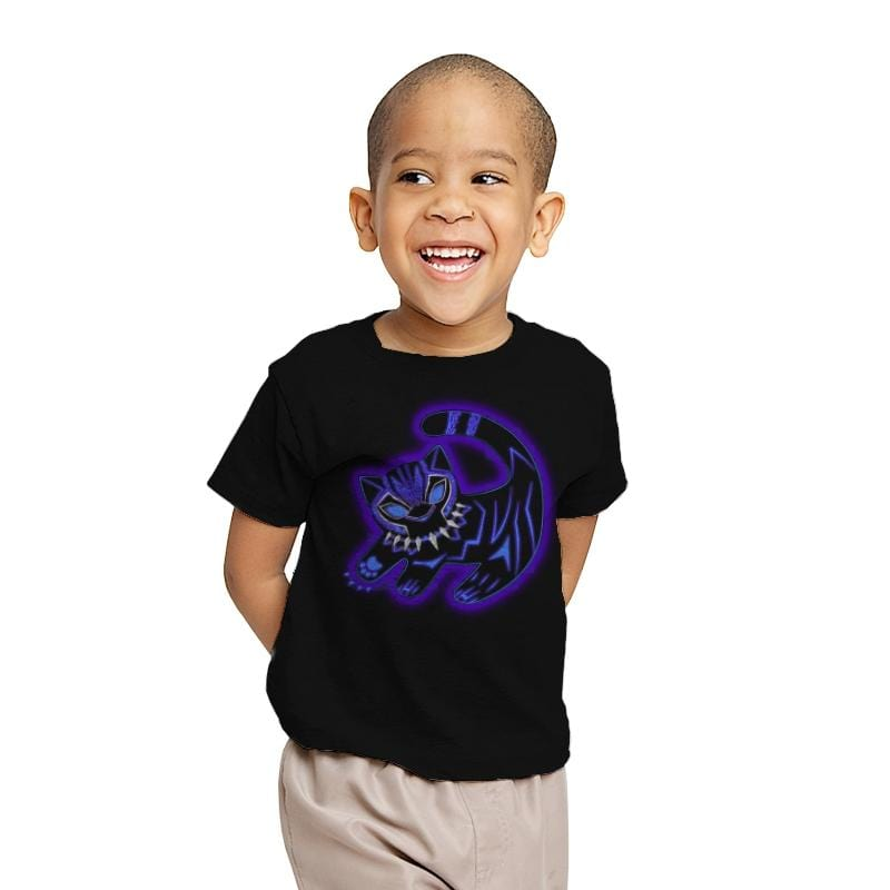 The Glowing Panther King - Youth - T-Shirts - RIPT Apparel