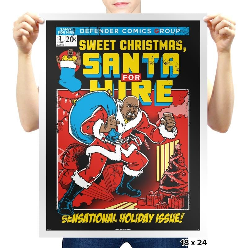 Santa For Hire Exclusive - Prints - Posters - RIPT Apparel