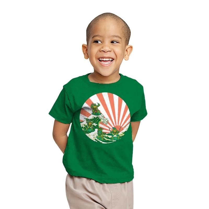 The Great Wave Off Cowabunga - Youth - T-Shirts - RIPT Apparel
