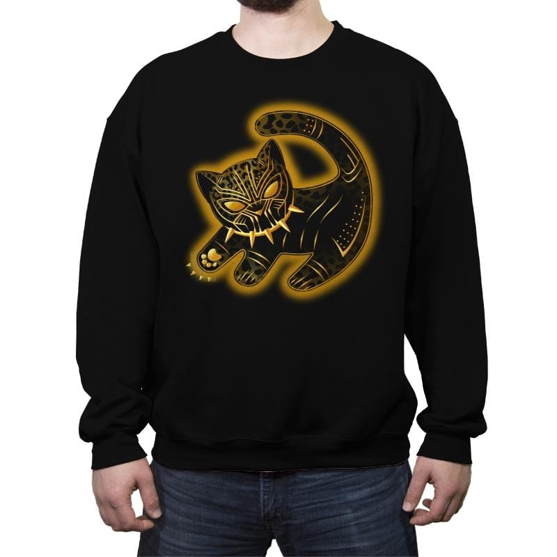 The Fake Panther King - Crew Neck Sweatshirt - Crew Neck Sweatshirt - RIPT Apparel