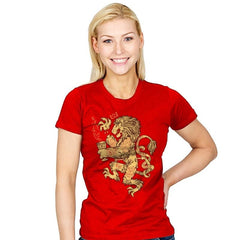 Lion Spoiler Crest - Womens - T-Shirts - RIPT Apparel