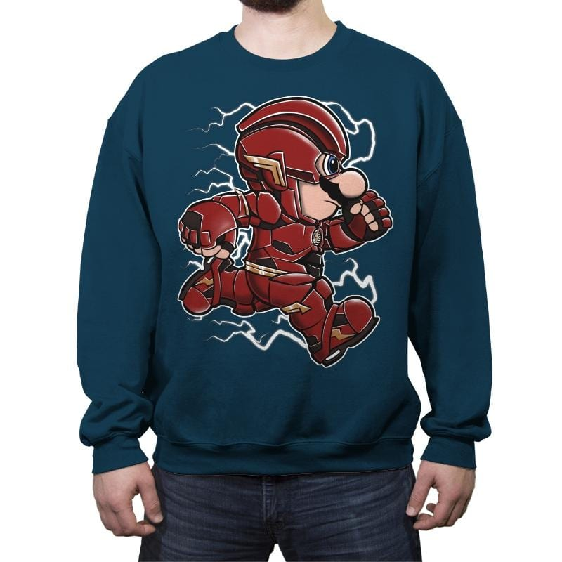 Super Plumber Run - Crew Neck Sweatshirt - Crew Neck Sweatshirt - RIPT Apparel