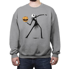 Pumpkin Thrower - Crew Neck Sweatshirt - Crew Neck Sweatshirt - RIPT Apparel