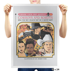Cowboys & Robots Choose Your Own - Prints - Posters - RIPT Apparel