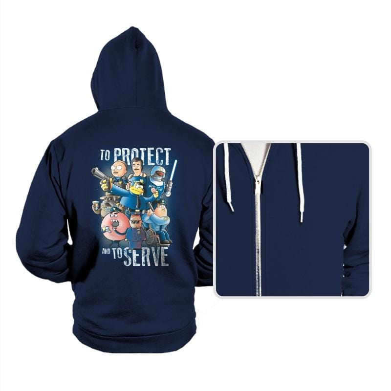 To Protect and To Serve - Hoodies - Hoodies - RIPT Apparel
