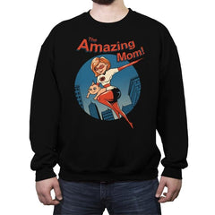 The Amazing Mom! - Crew Neck Sweatshirt - Crew Neck Sweatshirt - RIPT Apparel