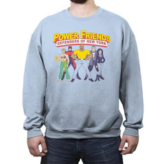 The Power Friends - Crew Neck Sweatshirt - Crew Neck Sweatshirt - RIPT Apparel