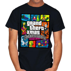 Grand Theft Xmas: Halloweentown - Mens - T-Shirts - RIPT Apparel