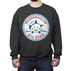Marshmallow All Star - Crew Neck Sweatshirt - Crew Neck Sweatshirt - RIPT Apparel