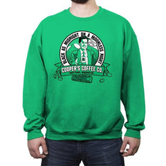 Cooper's Coffee Co. - Crew Neck Sweatshirt - Crew Neck Sweatshirt - RIPT Apparel