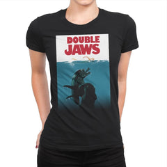 Double Jaws - Womens Premium - T-Shirts - RIPT Apparel