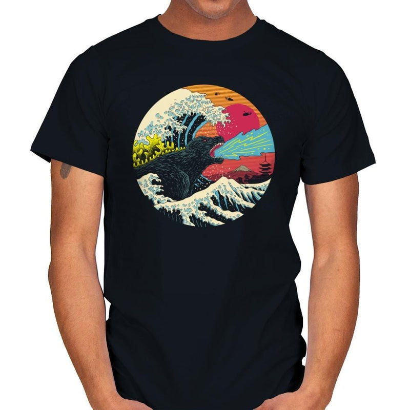 Retro Wave Kaiju - Mens - T-Shirts - RIPT Apparel