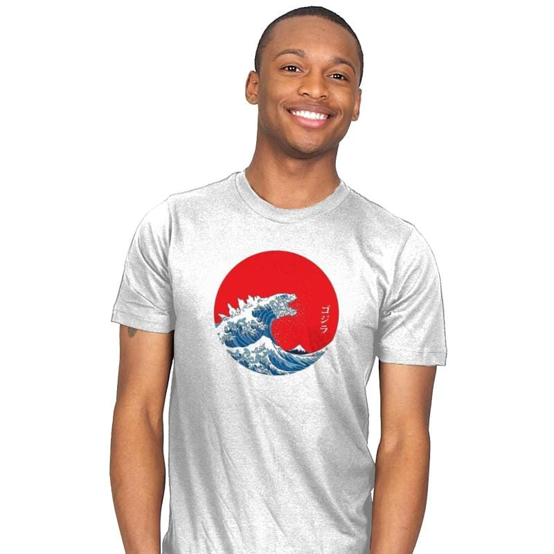 Hokusai Kaiju Reprint - Mens - T-Shirts - RIPT Apparel
