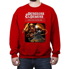 Dungeons & Dwarves - Crew Neck Sweatshirt - Crew Neck Sweatshirt - RIPT Apparel