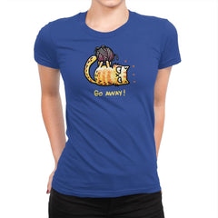 Go Away Right Meow - Womens Premium - T-Shirts - RIPT Apparel