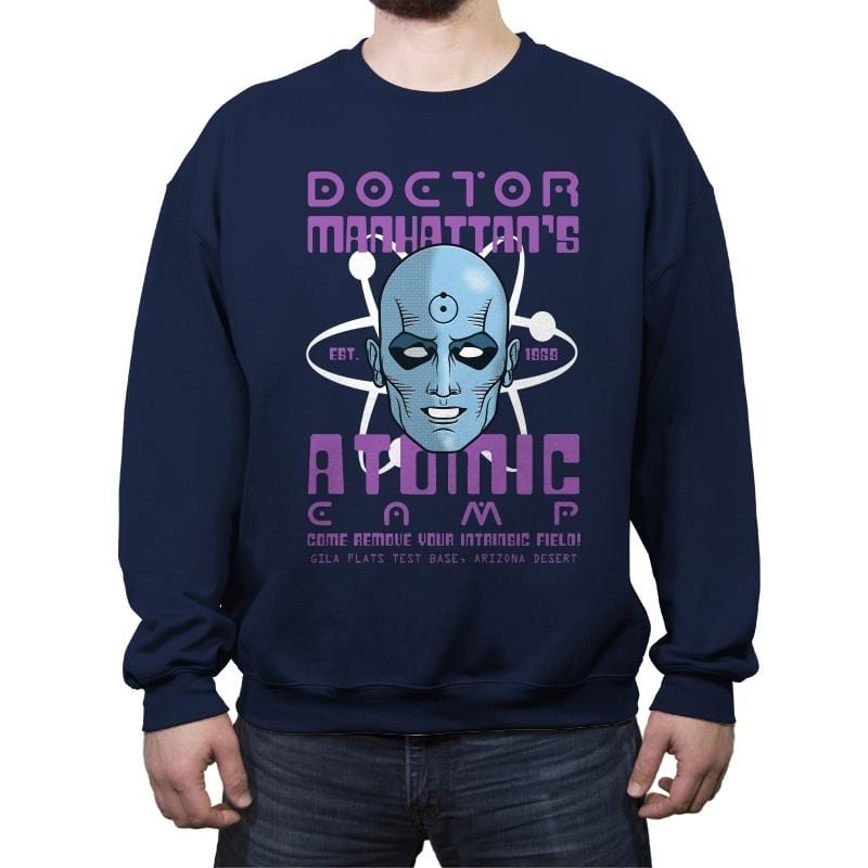 Doctor's Atomic Camp - Crew Neck Sweatshirt - Crew Neck Sweatshirt - RIPT Apparel