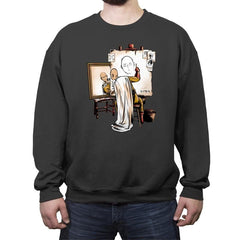 Triple Saitama - Crew Neck Sweatshirt - Crew Neck Sweatshirt - RIPT Apparel