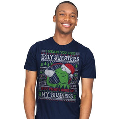 None of My Business - Ugly Holiday - Mens - T-Shirts - RIPT Apparel