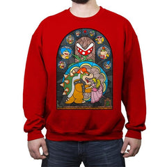 Beauty and the Bowser - Crew Neck Sweatshirt - Crew Neck Sweatshirt - RIPT Apparel
