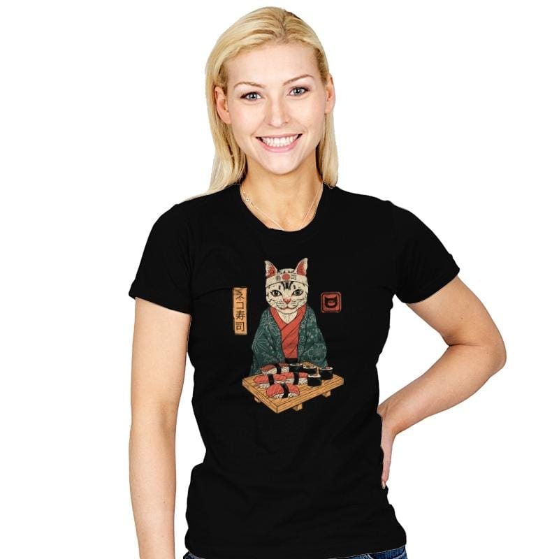 Neko Sushi Bar - Womens - T-Shirts - RIPT Apparel
