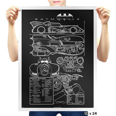 1980s Mobile Technical Blueprint - Prints - Posters - RIPT Apparel