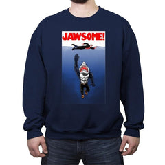 Jawsome Dude - Crew Neck Sweatshirt - Crew Neck Sweatshirt - RIPT Apparel