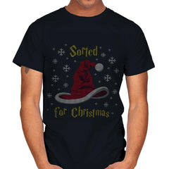 Christmas Sorting Hat - Ugly Holiday - Mens - T-Shirts - RIPT Apparel