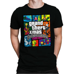 Grand Theft Xmas: Halloweentown - Mens Premium - T-Shirts - RIPT Apparel