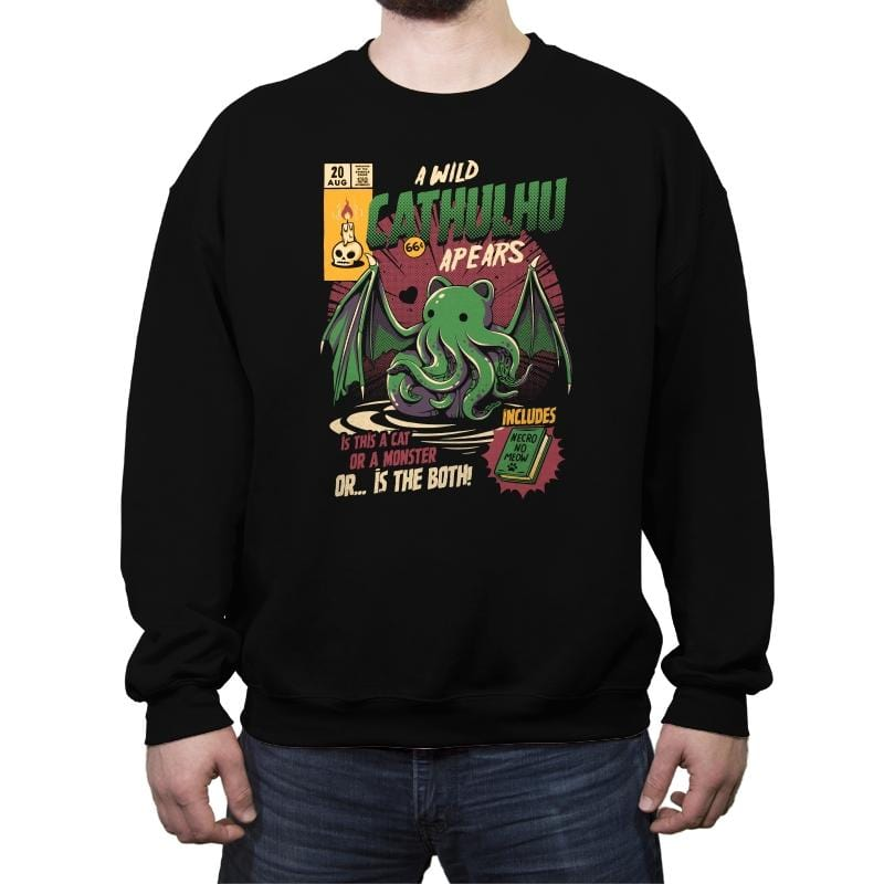 Cathulhu - Crew Neck Sweatshirt - Crew Neck Sweatshirt - RIPT Apparel