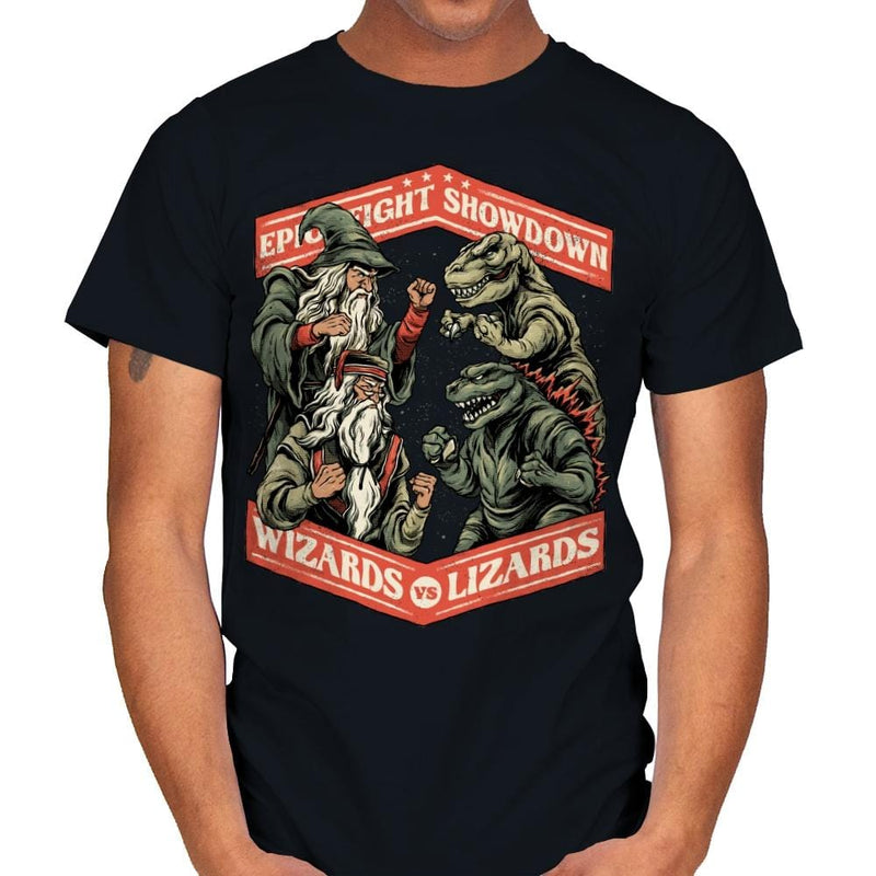 Wizards vs Lizards - Mens - T-Shirts - RIPT Apparel