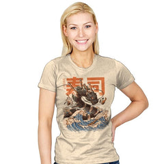 Great Sushi Dragon  - Womens - T-Shirts - RIPT Apparel