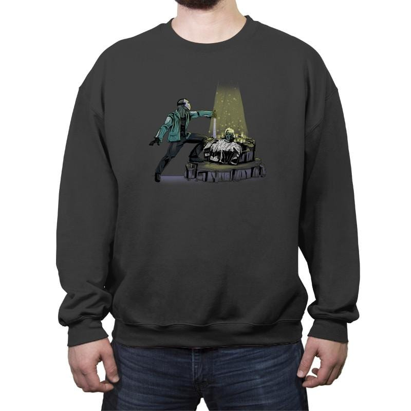 The Machete in the Stone - Crew Neck Sweatshirt - Crew Neck Sweatshirt - RIPT Apparel