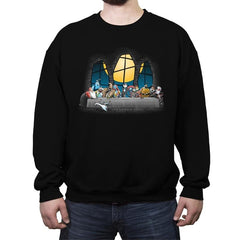 Dinner Before Christmas - Crew Neck Sweatshirt - Crew Neck Sweatshirt - RIPT Apparel