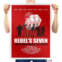 The Rebel's Seven Exclusive - Prints - Posters - RIPT Apparel