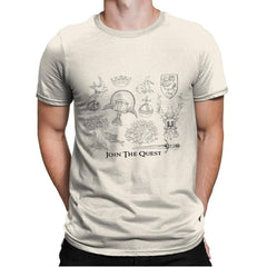 The Quest For The Grail - Mens Premium - T-Shirts - RIPT Apparel