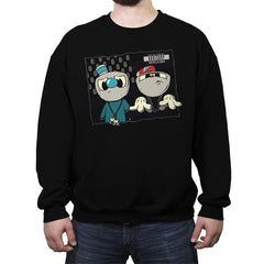 Pew Pew Bros - Crew Neck Sweatshirt - Crew Neck Sweatshirt - RIPT Apparel