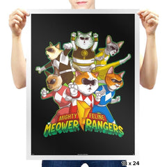 Meower Rangers - Prints - Posters - RIPT Apparel