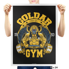 Goldar Gym - Prints - Posters - RIPT Apparel