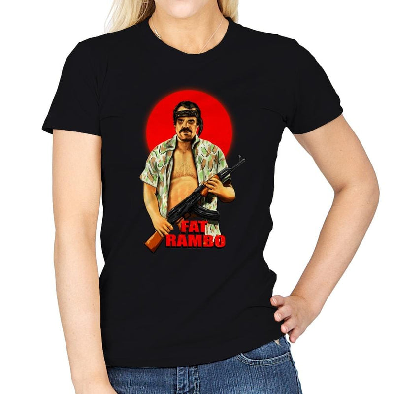 Fat Rambo - Womens - T-Shirts - RIPT Apparel