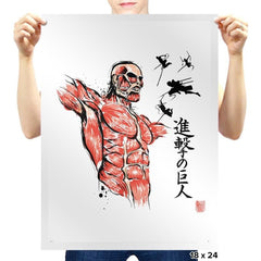 Flying For Freedom - Sumi Ink Wars - Prints - Posters - RIPT Apparel